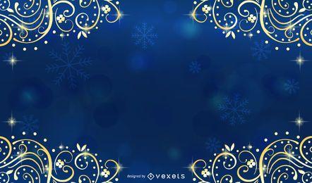 Exquisito fondo de navidad