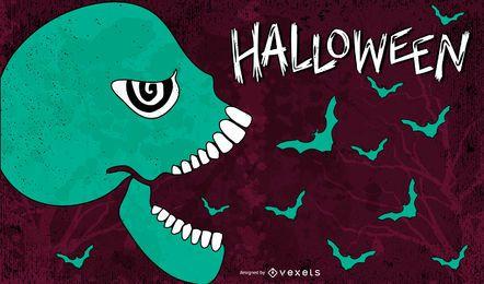 Fondo de dibujos animados de Halloween 3