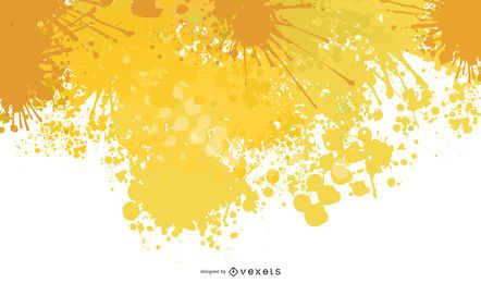 Yellow Splat Background Design