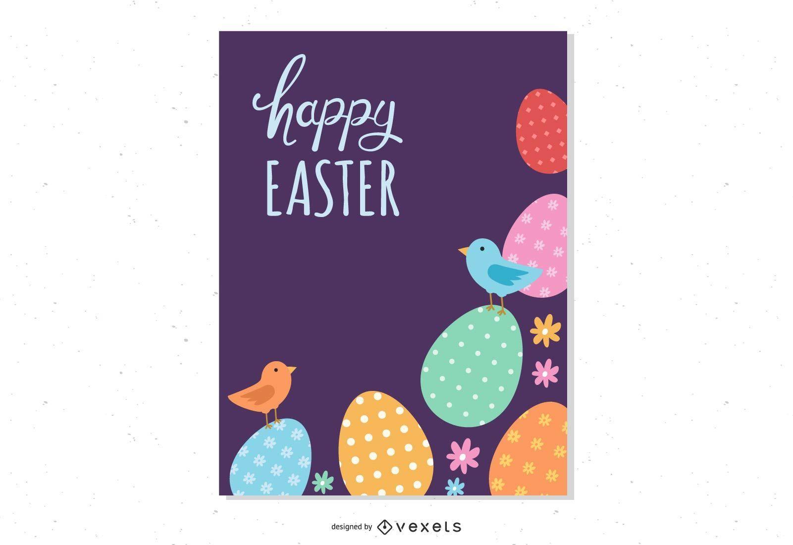 Happy Easter Egg Poster Design