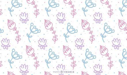 Dibujado a mano pastel diseño de flores