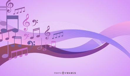 Musical quavers background