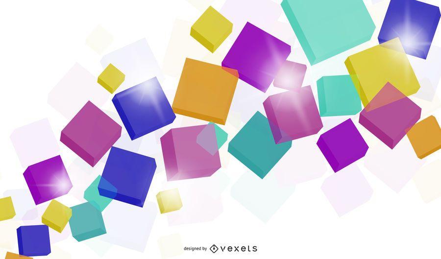 Colorido cubo 3d