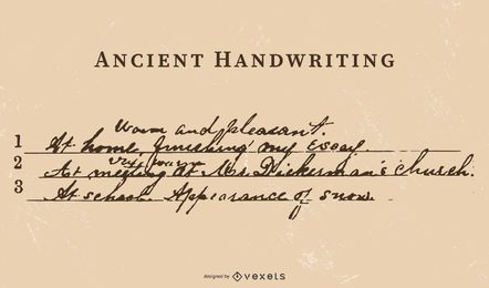 Ancient Writing Vector