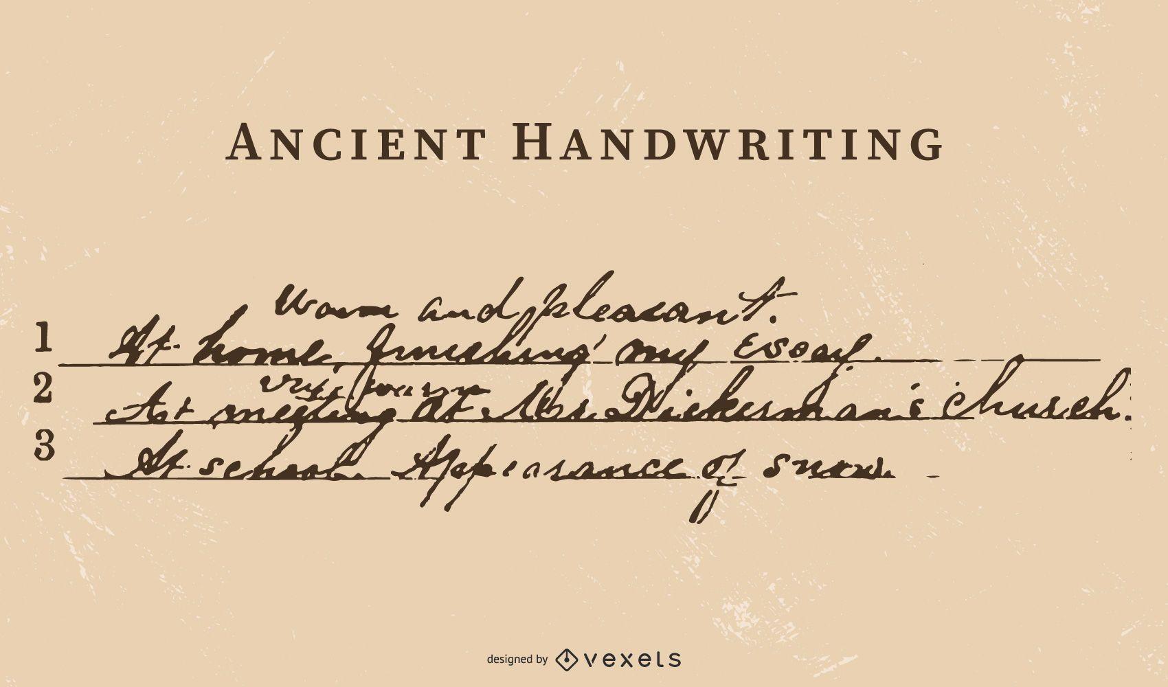 Ancient Writing Vector