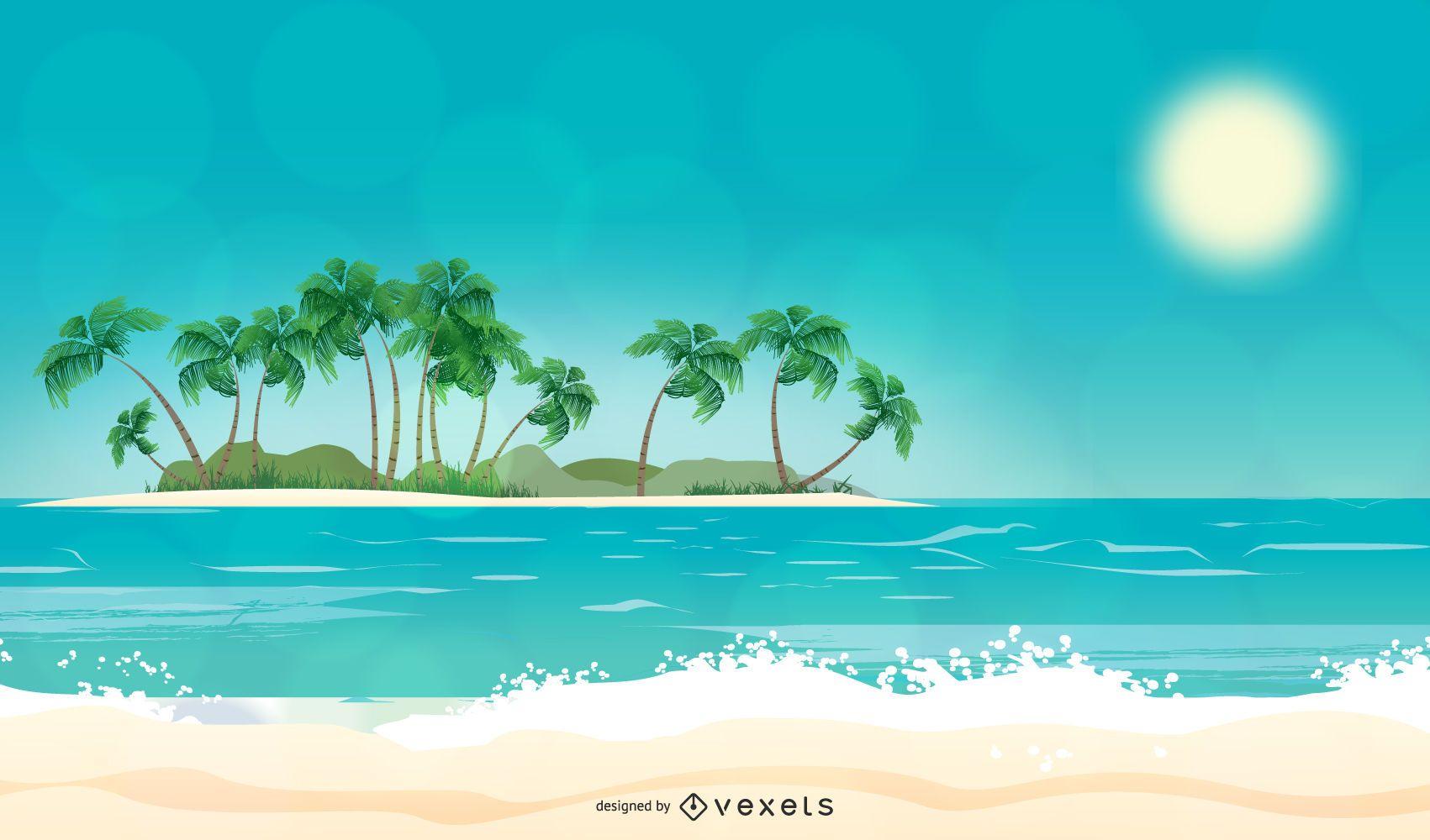 Diseño de fondo de la isla
