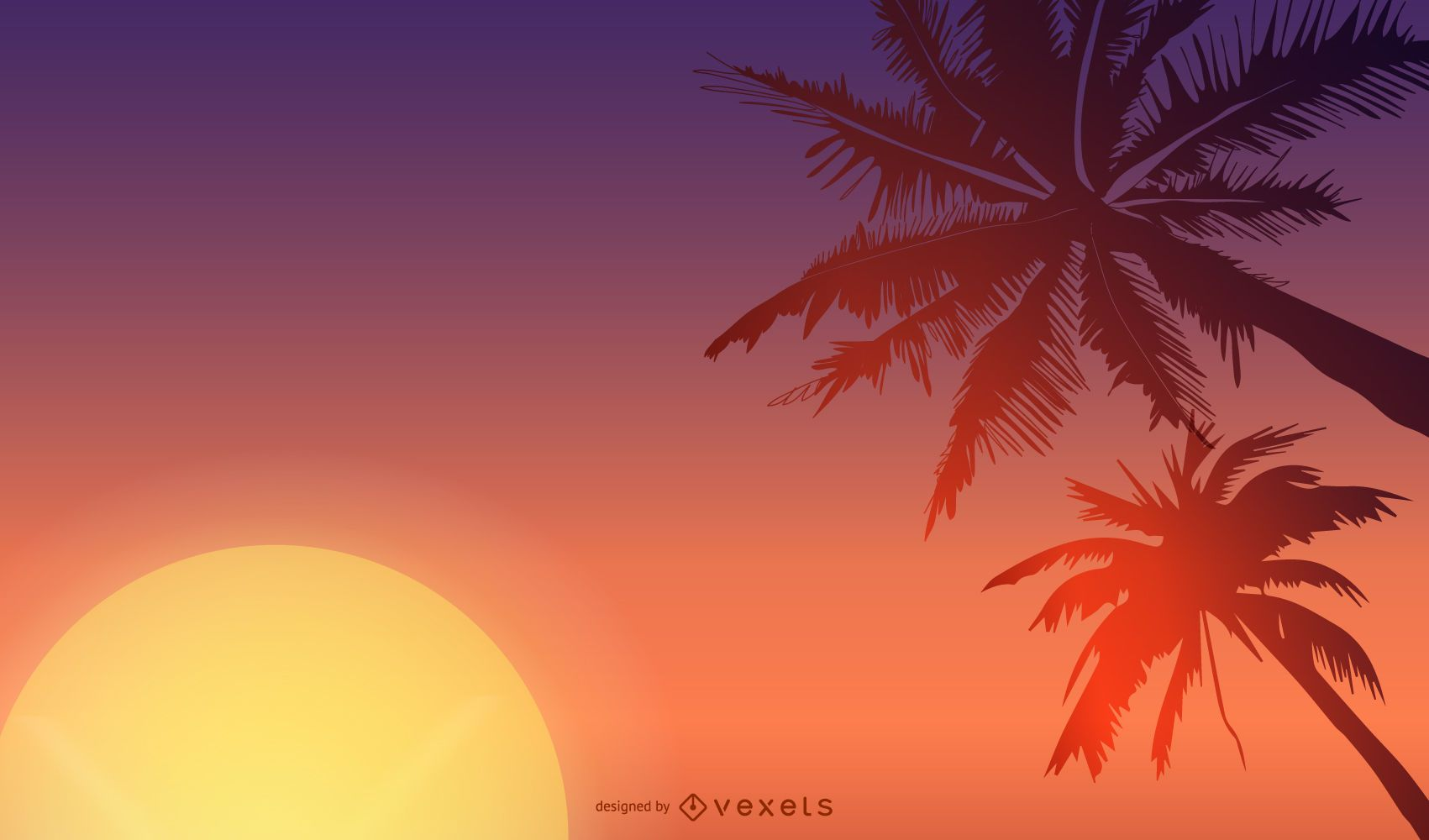 Exotic Summer Background Vector