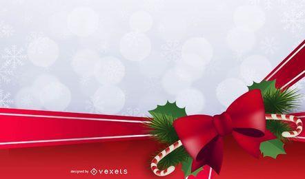 Marco de fondo de Navidad con adornos