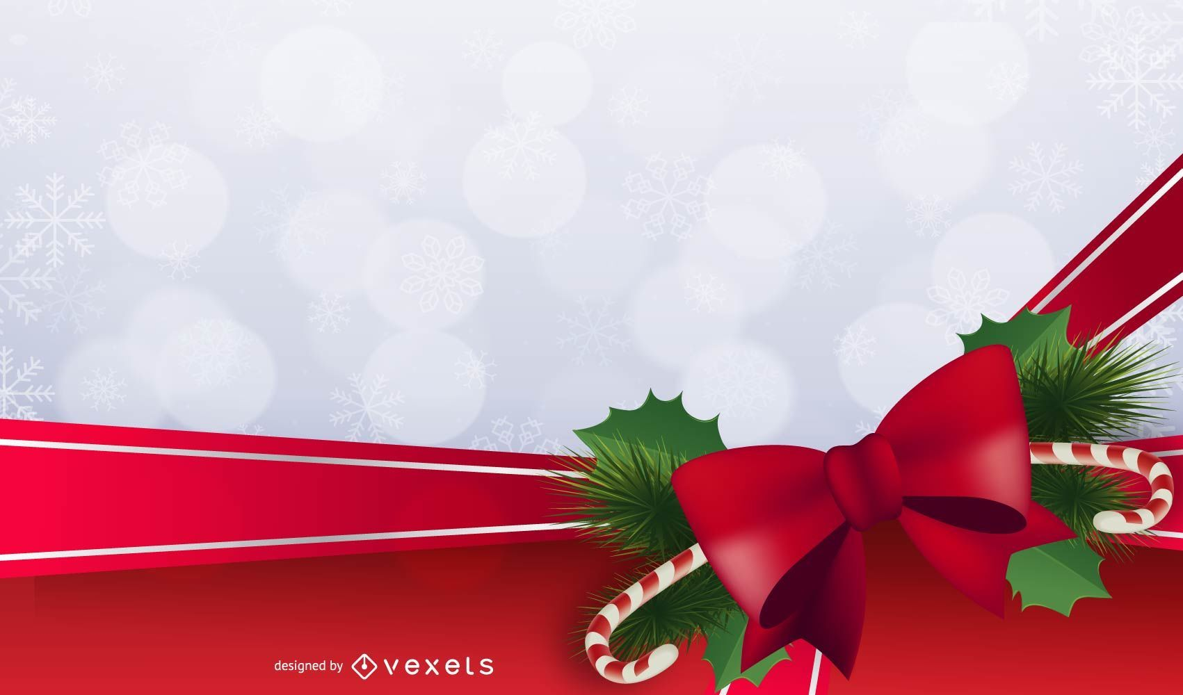 Christmas background frame with ornaments
