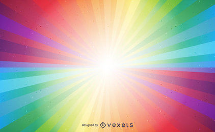 Colorful light burst vector