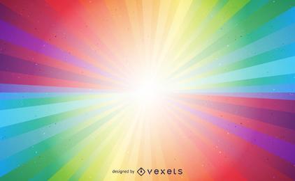 Vetor de explosão de luz colorida