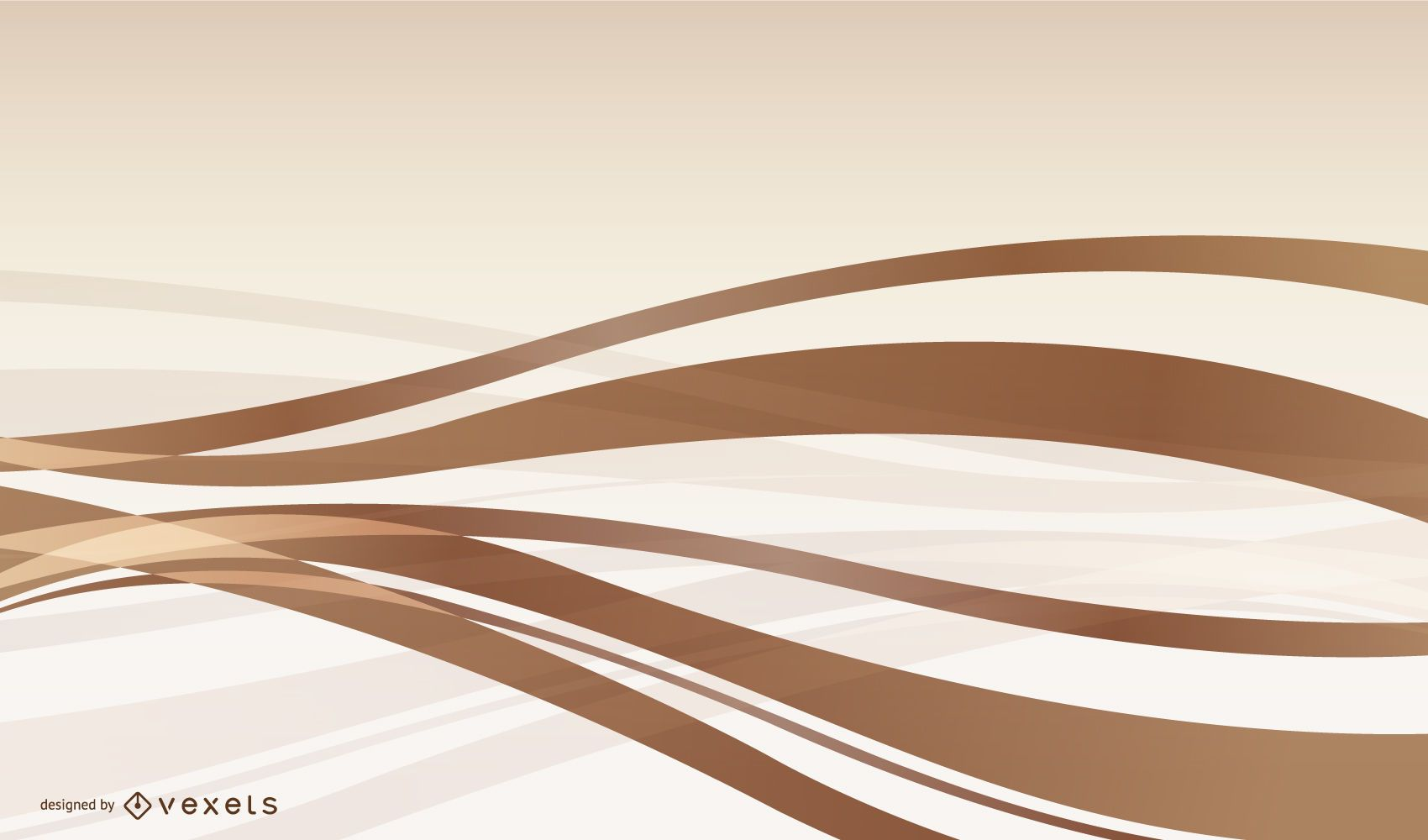 Abstract Copper Waves Background
