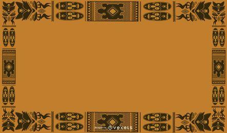 African Motif Framed Background