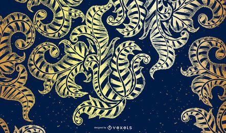 Desenho de fundo azul e dourado