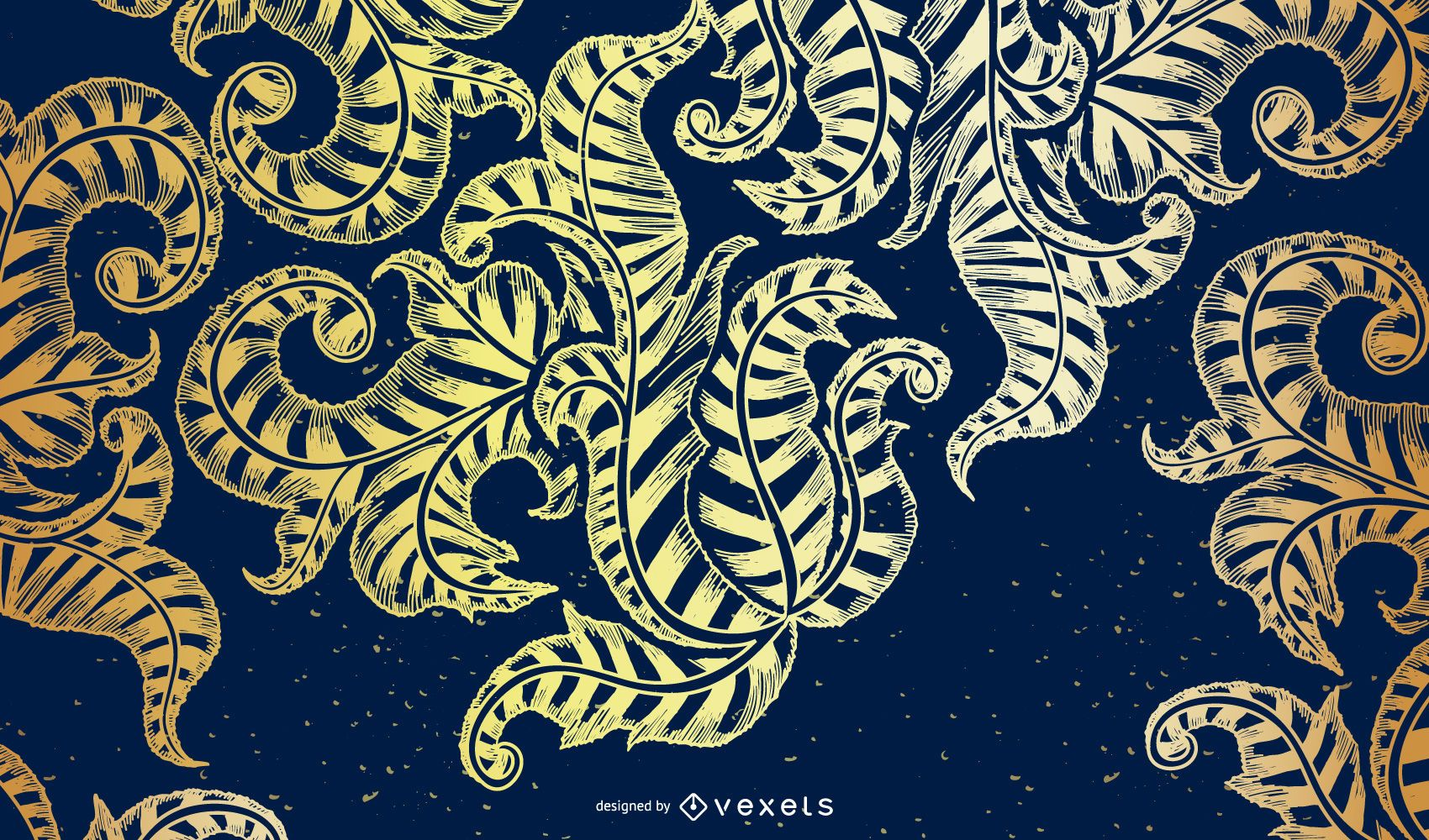 Blue and gold backdrop design