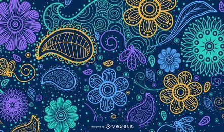 Illustriertes Paisley-Hintergrunddesign