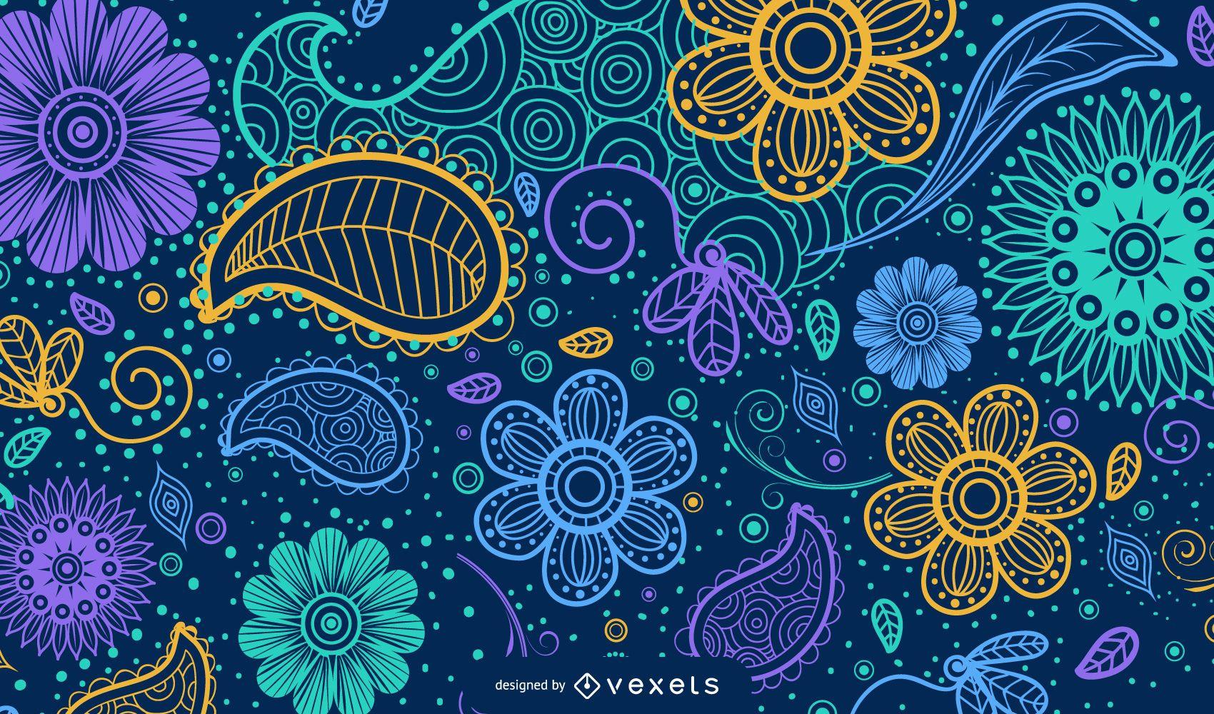 Paisley Background Design