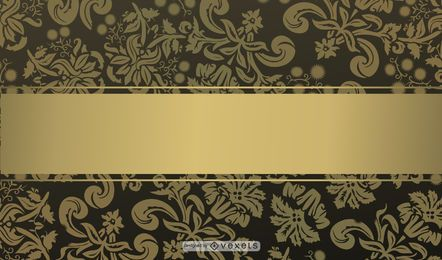 Diseño de fondo de oro negro conjunto