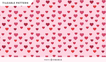 Diseño del patrón del corazón de san valentín