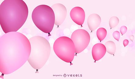 Globos de fiesta rosa
