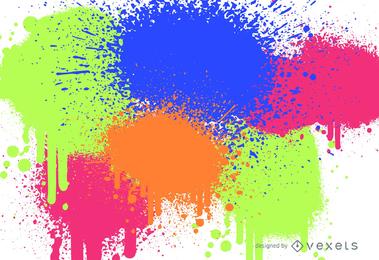 Pontos coloridos de Abscract