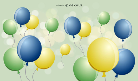 Fondo de diseño de globos