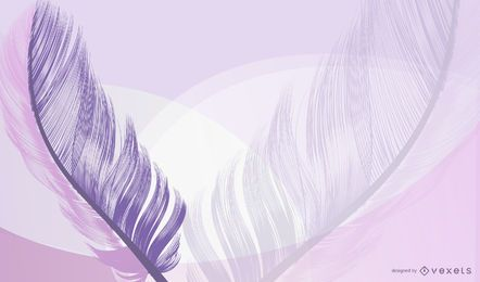 Lavender Feather Abstract Background