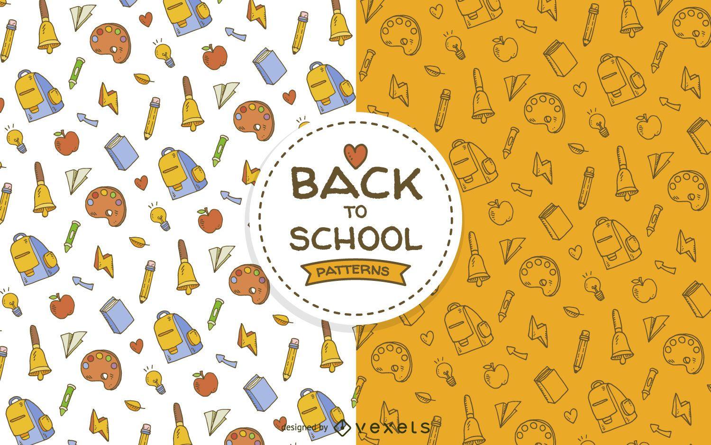 School supplies pattern