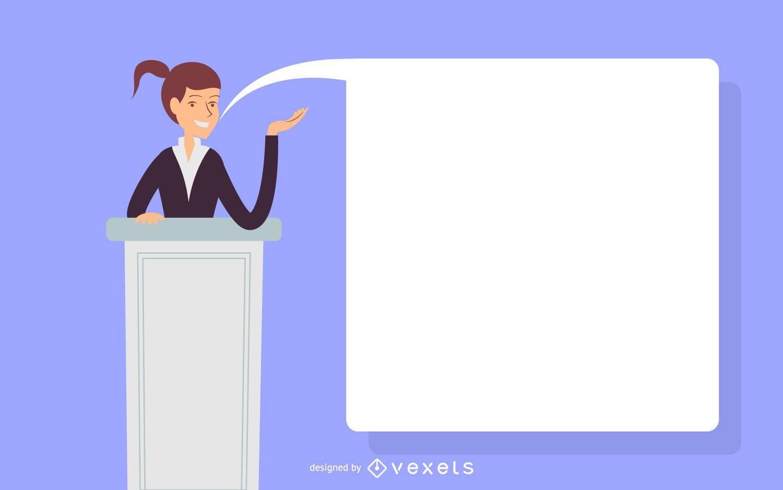 Woman speech illustration