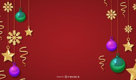 Plantilla de mensaje de Navidad de lujo