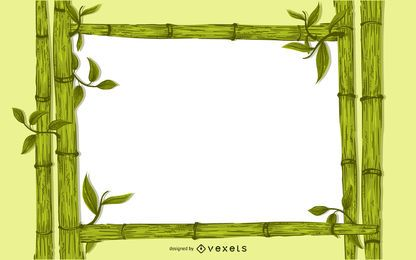 3D bamboo background frame