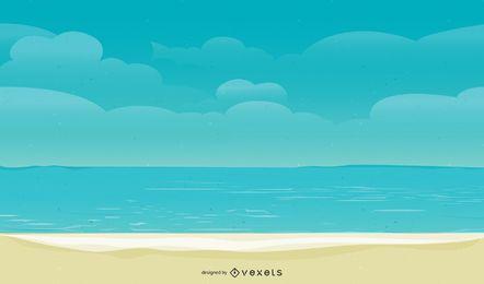 Diseño de fondo de playa de verano