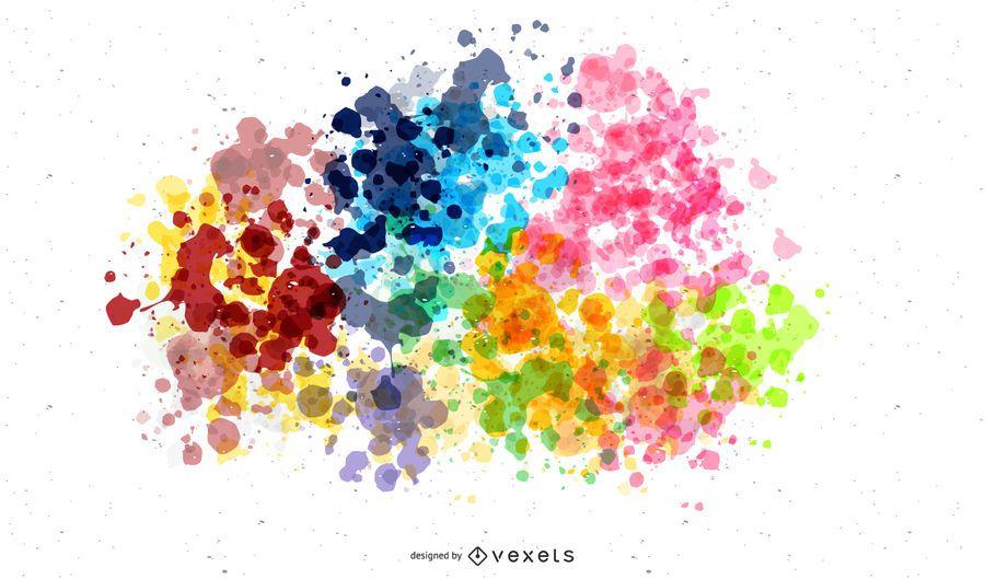 Bunte Farbe Splats