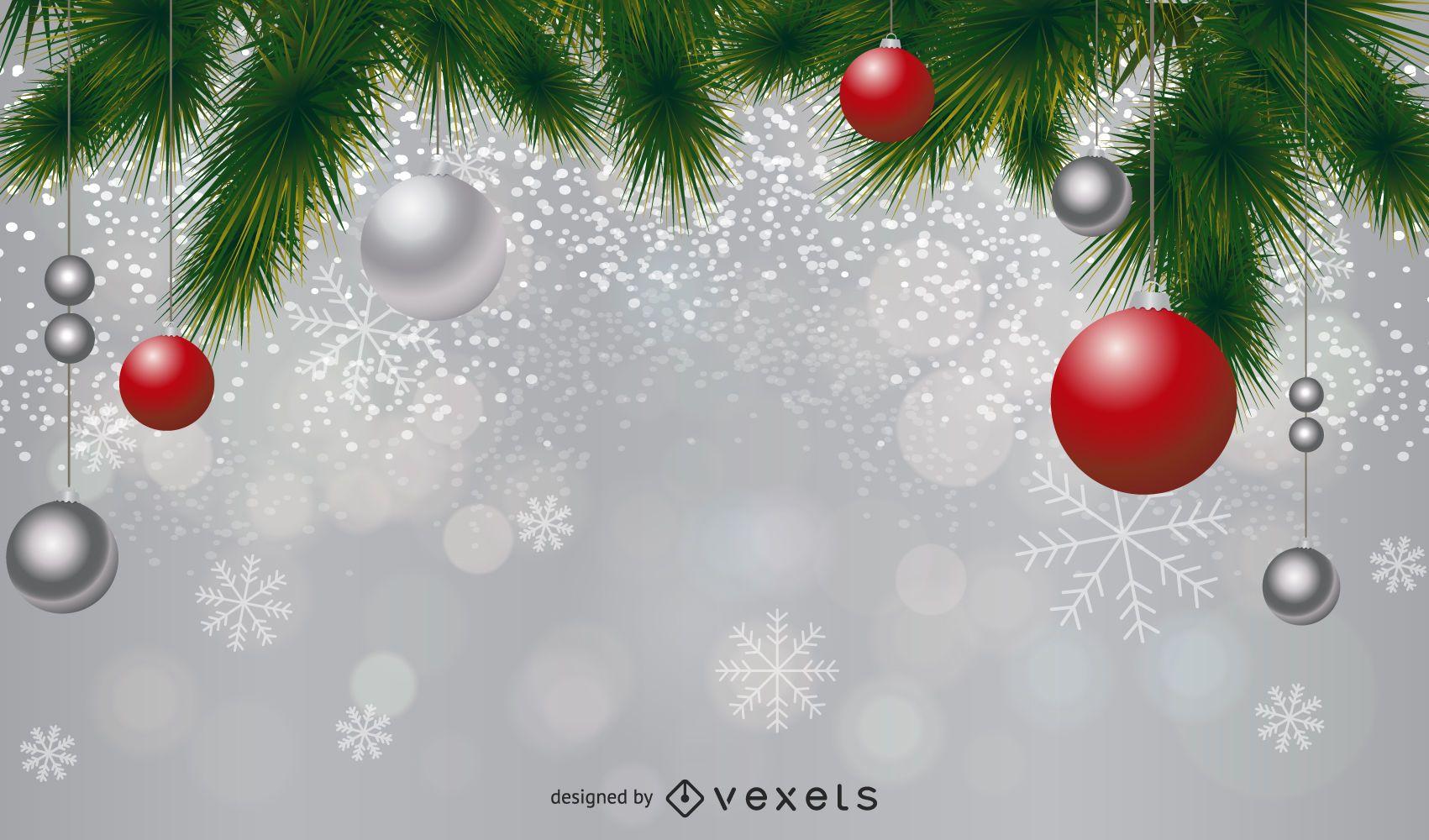 Diseño de fondo de decoración de Navidad