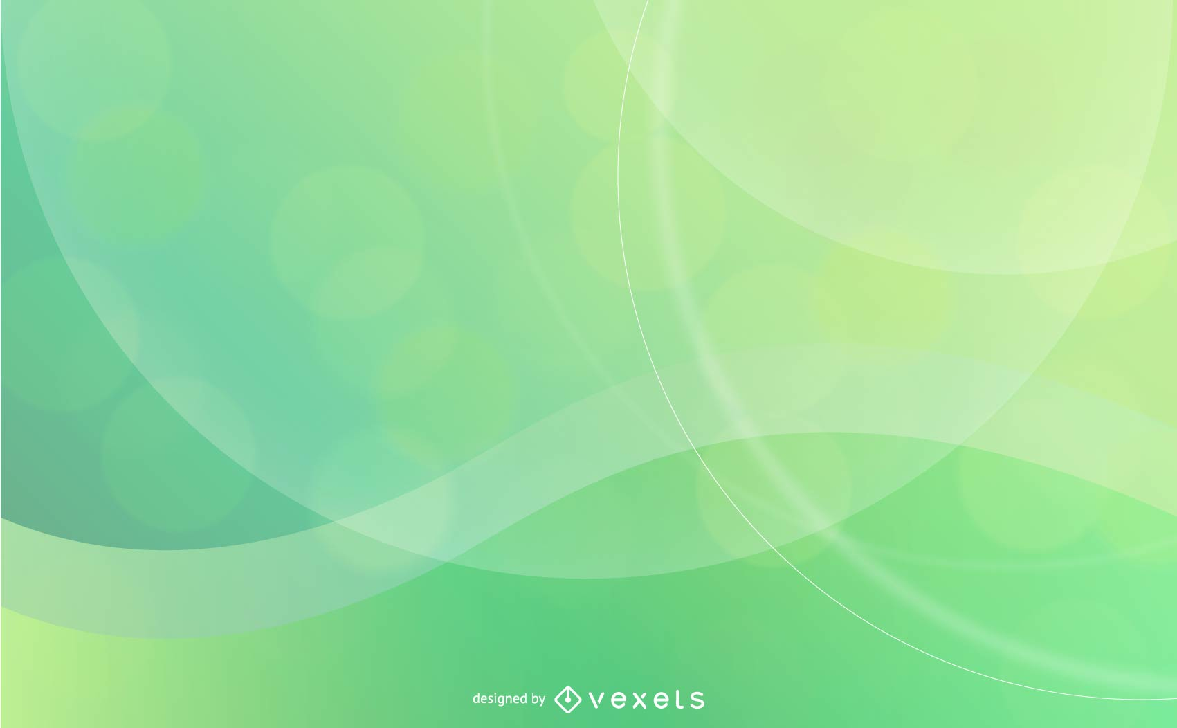 Abstract Background Design In Green And Yellow Vector Download