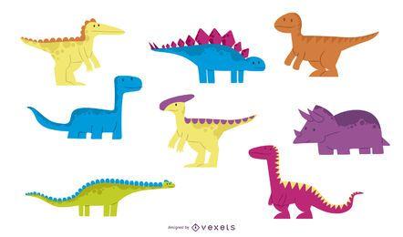 Dibujos animados dinosaurio ilustrador 3