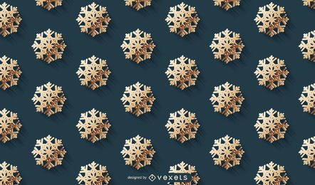 Golden Snowflake Pattern Background