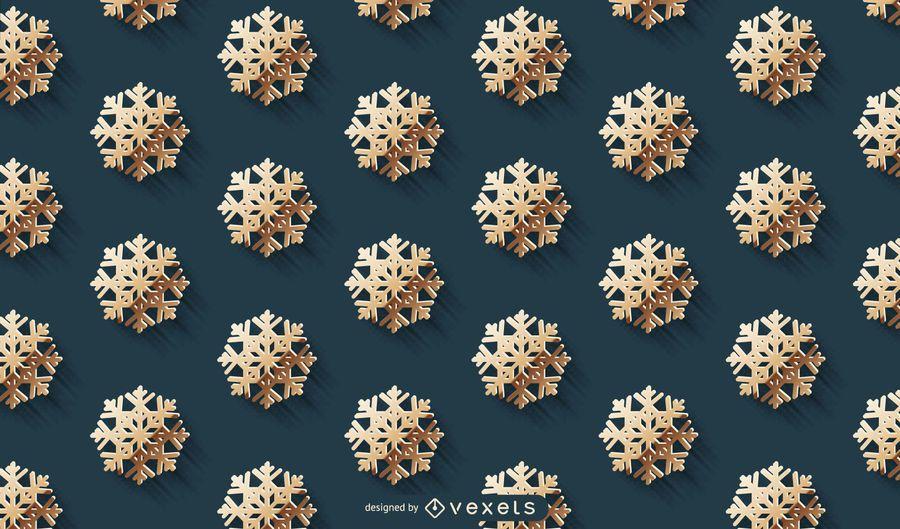 Golden Snowflake Pattern Background