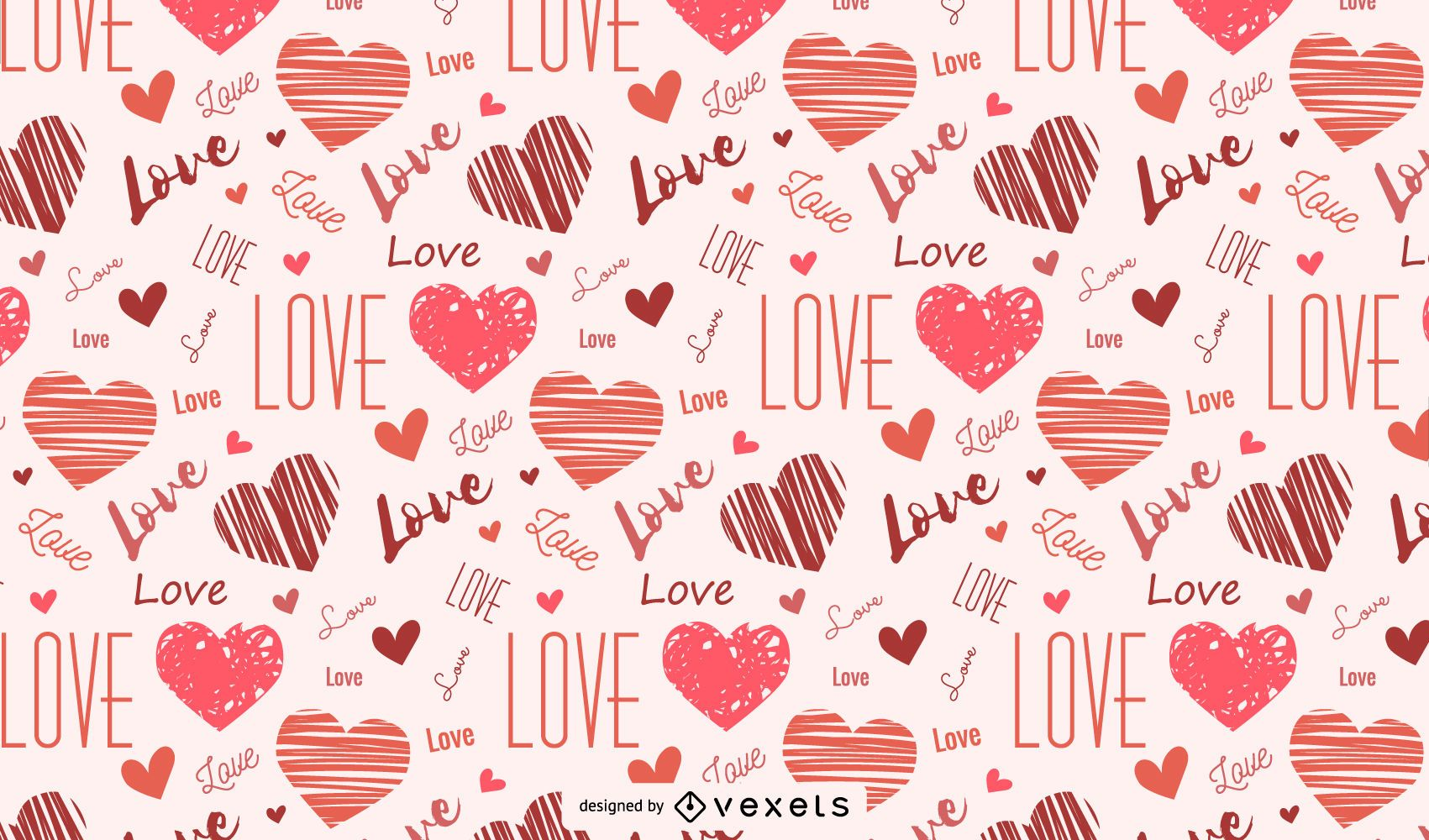 Hearts And Love Seamless Pattern
