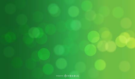 Green Natural Bokeh Circles Background