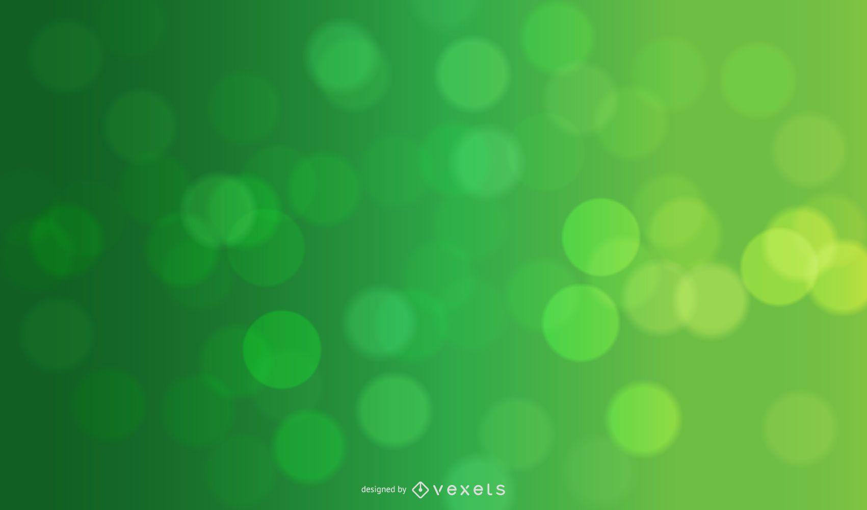 Green Natural Bokeh Circles Background