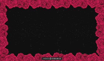 Fondo negro floral 3