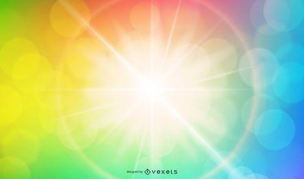 Arco-íris sunburst