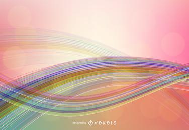Linhas coloridas curvas