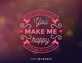 Valentine beschriftet Hintergrund