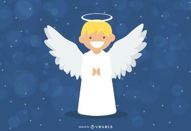 Fundo de Natal de anjo