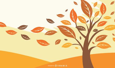 Autumn Falling Leaves Illustration