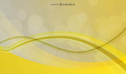 Pano de fundo abstrato onda amarela