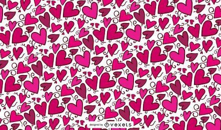 Rosa Herz Valentinsgrußmuster