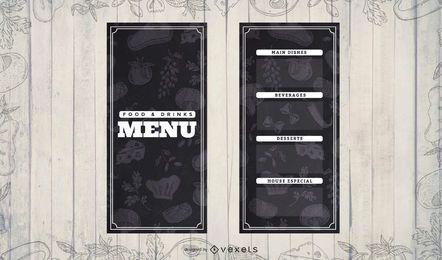 Padrão de fundo do menu